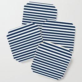 Navy-White ( Stripe Collection ) Coaster