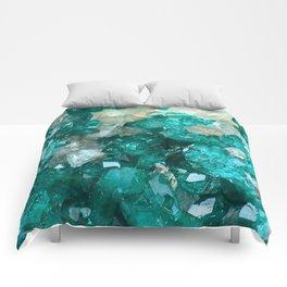 Teal Rock Candy Quartz Comforters