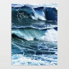 Deep Blue Waves Poster