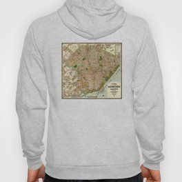 Vintage Map of Buenos Aires Argentina (1921) Hoody