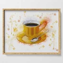 Coffee Art Serving Tray