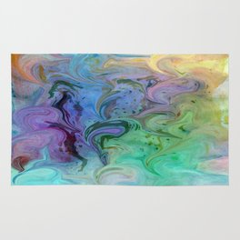Pastel Swirls Abstract Rug