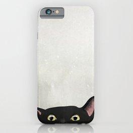 Curious Black Cat iPhone Case