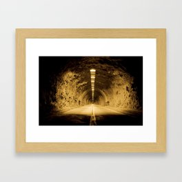 Late Hike Through Yosemite Tunnel Framed Art Print