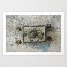 DUMBO Loft Door Lock-Brooklyn, New York Art Print