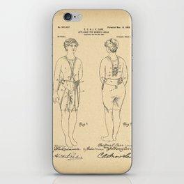 1900 Patent Appliance for women's wear iPhone Skin