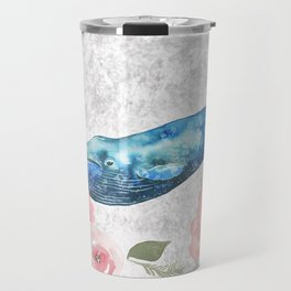 Whale Amongst the Roses Travel Mug