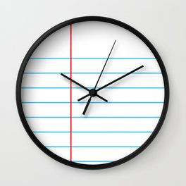Notebook Paper Wall Clock