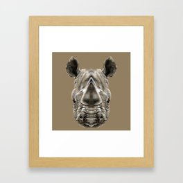 Rhino Sym Framed Art Print