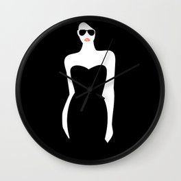 Black Dress Wall Clock