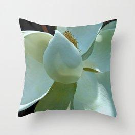 Blue Magnolia II Throw Pillow