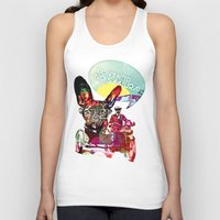 french Tank Tops featuring FRENCH by DON'T NEED NO SAMURAI