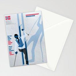 Birkebeinerrennet Birkebeiner Nordic Skiing by Dennis Weber ShreddyStudio Stationery Cards