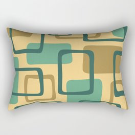 Mid Century Modern Abstract Squares Pattern 428 Rectangular Pillow