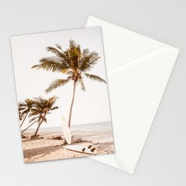 Surfboards On The Beach Stationery Cards