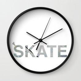 skate street Wall Clock