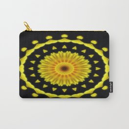 Large Yellow Wildflower Kaleidoscope Art 2 Carry-All Pouch