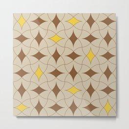 Earth Tone Diamond Modern Mid Century Geometric Pattern Scandinavian Rustic Interior 07 Metal Print