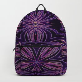 Colorful Purple Flowers Backpack