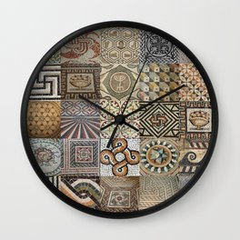 Roman Mosaic Montage Wall Clock