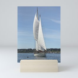 Schooner Martha Sailboat Sailing Boat Pacific Northwest Port Townsend Washington Regatta Dolphin Mini Art Print