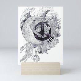 Peace Whale Mini Art Print