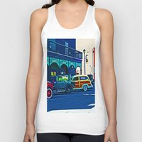 cars Tank Tops featuring Vintage Cars by Joseph Coulombe