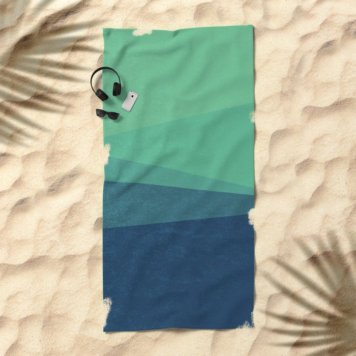 Stripe VIII Minty Fresh Beach Towel