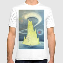 Yellow Island and Rose Tree landscape painting by Marguerite Blasingame T-shirt