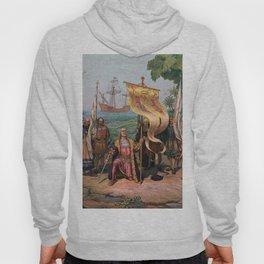 Columbus Landing in America Painting (1892) Hoody