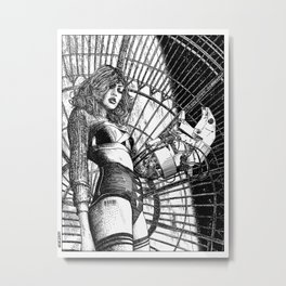 asc 325 - La dame de voyage II (The starship escort girl II) Metal Print