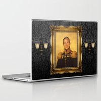 neil gaiman Laptop & iPad Skins featuring Neil Armstrong - replaceface by replaceface