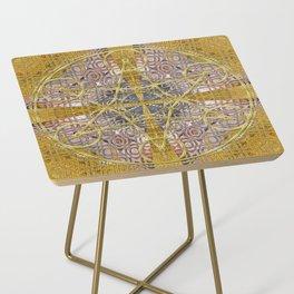 Golden Steampunk Geometry Star Side Table