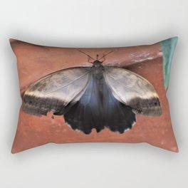 Forest Giant Owl Butterfly Rectangular Pillow