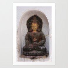 Swayambhunath Golden Buddha Art Print