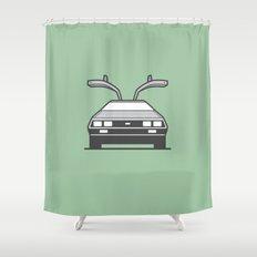 #4 Delorean Shower Curtain