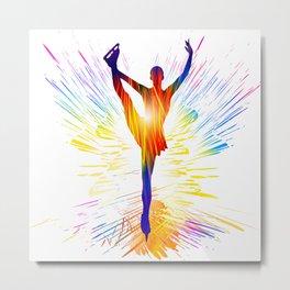 Figure skating ballet dancer Metal Print