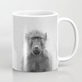 Baboon - Black & White Coffee Mug