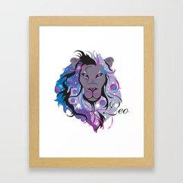 Starlight Leo Framed Art Print