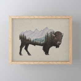 The Land of the Bison Framed Mini Art Print