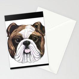 Bulldog by Nina Lyman of Dogs By Nina Stationery Cards