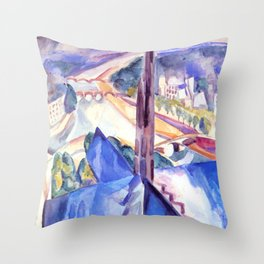 """Robert Delaunay """"The Spire of Notre Dame""""(1909) Throw Pillow"""