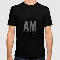 A Morning Person MEDIUM Black Mens Fitted Tee