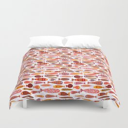 School of tropical fish pattern Duvet Cover