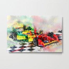 Lucas di Grassi, Formula E Metal Print