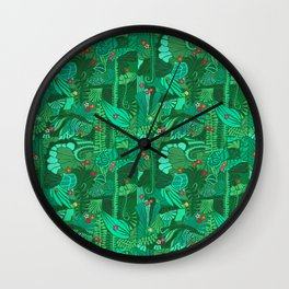 Tropical Forest Green Wall Clock