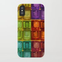 tv iPhone & iPod Cases featuring Coulored Televisions by PrinzPhotographie
