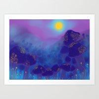 magic shrooms Art Print