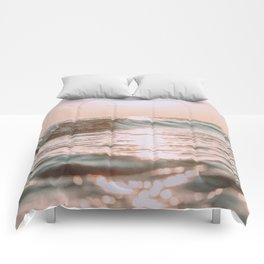 pink skies Comforters