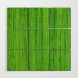 Green Melon Colored Vertical Stripes Wood Wall Art